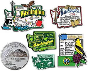 Six-Piece State Magnet Set - Washington