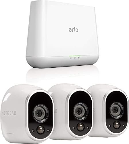 Arlo by NETGEAR Security System with 3 HD Cameras Vms3330 and Gen 4 Pro Base Vmb4000