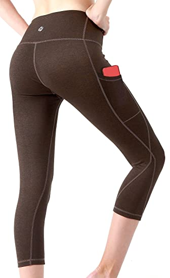 a576e2b7cdf MYoga Women s Yoga Pants Workout Leggings Running Tights Active Pants w  Side Pockets (XS