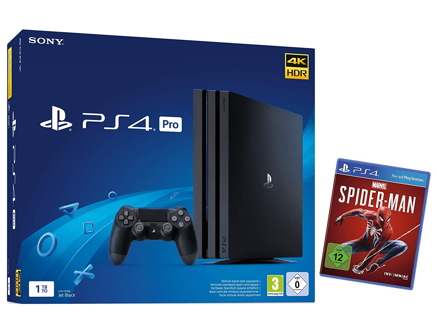 [amazon.de] Playstation 4 Pro 1TB + Spiderman za 349,99€