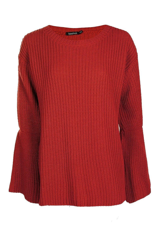 Damen Rost Hannah Grober Pullover mit weiten Ärmeln - M-L  Amazon.de   Bekleidung 5457f802c8