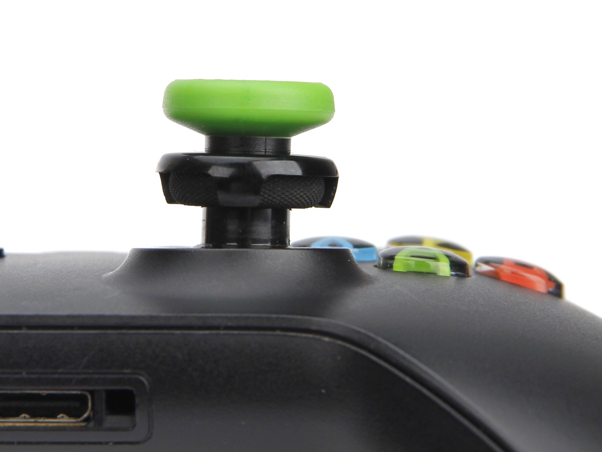 AmazonBasics Xbox One Controller Thumb Grips - 4-Pack, Black and Green by AmazonBasics (Image #2)