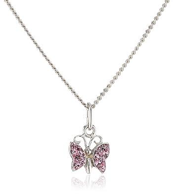 Infinite U Austrian Crystal Silver Plated Elf Angel Pendant Necklace for Women/Girls/Teenagers 6jC3N