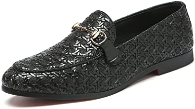 3cd9c1349a8 Andy J.K. Men s Luxury Wingtip Leather Shoe Modern Slip-On Lined Loafers  Tuxedo Champagne Cocktail Dress Shoes