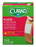 "Curad Plastic Adhesive Bandages, Bandage Size is 1"" x 3"", 100 Count"