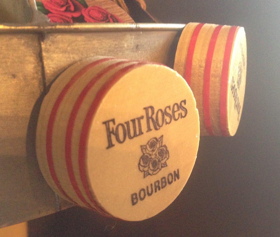 6 Wooden Bourbon Barrel Bungs, free shipping