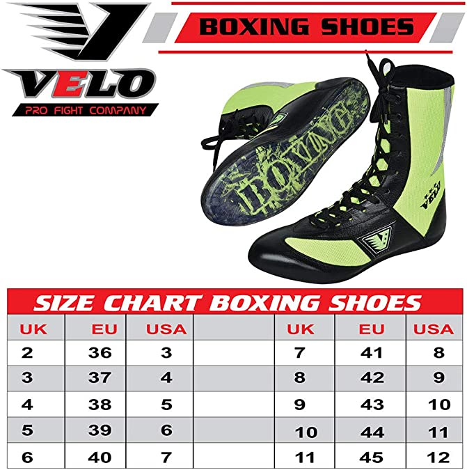 VELO Master Sports Boxing Shoes Mesh Unisex Genuine Leather Boot Light Weight