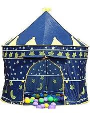 Children Kids Wizard & Princess Castle Tent for Indoor & Outdoor Playhouse (Blue wizard)