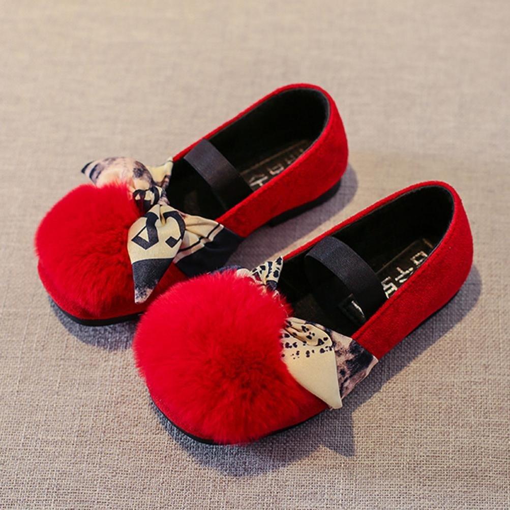 Highpot Toddler Baby Girls Fashion Princess Shoes Kids Fluffy Faux Fur Sneaker