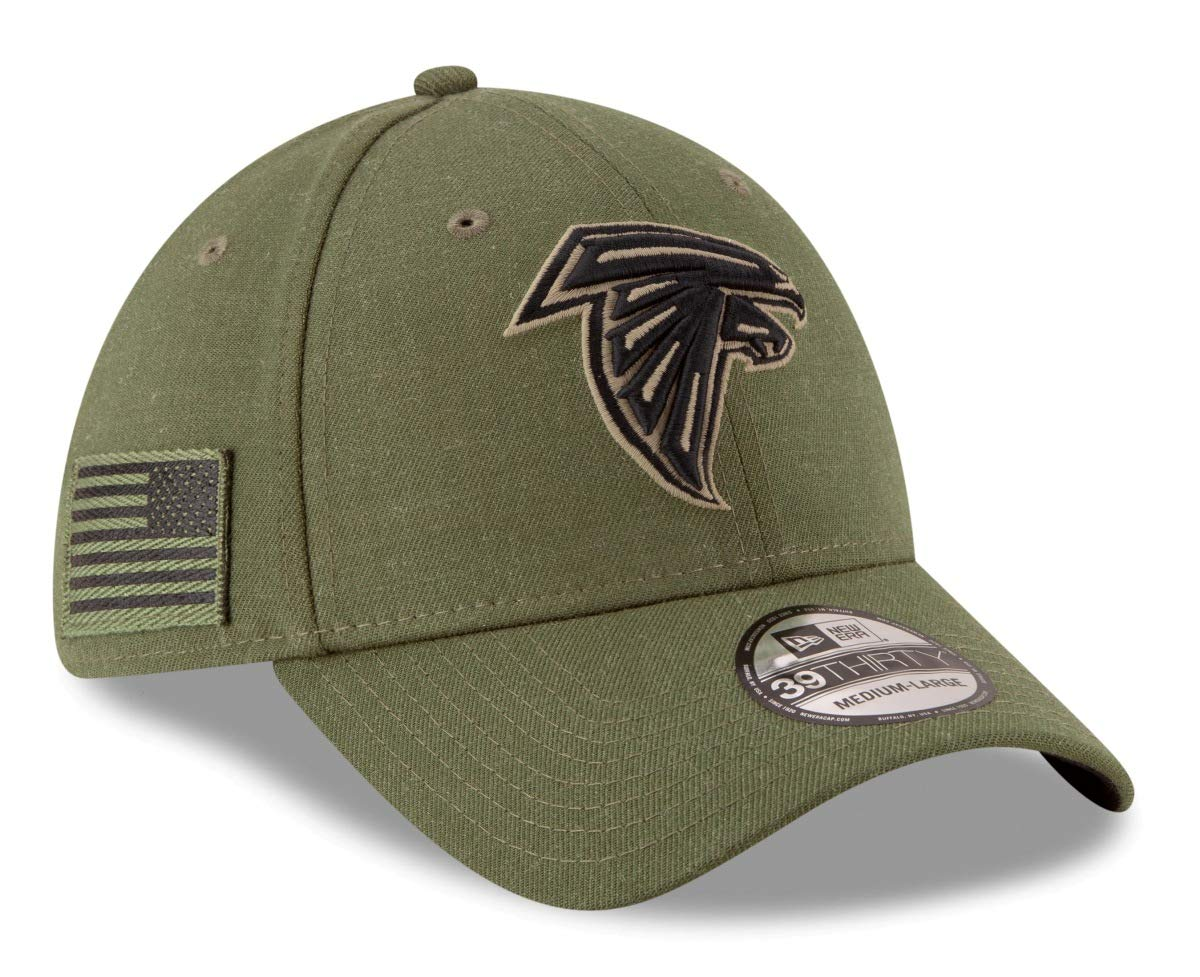 a2440140 New Era Mens NFL 2018 Salute to Service 39Thirty Flex Fit Hat