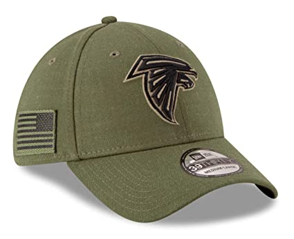 711559b04c2ec0 New Era Mens NFL 2018 Salute to Service 39Thirty Flex Fit Hat (Small/Medium