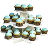 The Smart Baker 3 Tier Flower Cupcake Tower Stand Holds 48+ Cupcakes As Seen on Shark Tank Cupcake Stand