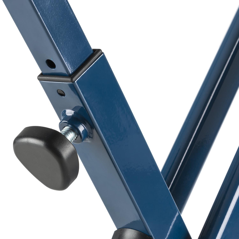 Bleu Klarfit Azura CF V/élo dappartement en X de 3 kg Charge 100 kg Max pulsom/ètre