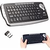 BESTRUNNER Mini Wireless Tastiera Tastiera QWERTY Trackball UK 2.4GHz Air Mouse Touchpad TV X-Box Computer