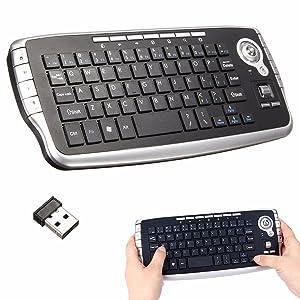 BESTRUNNER Mini Trackball inalámbrico Teclado 2,4 GHz Reino Unido Air Mouse Touchpad Televisión X-Box Ordenador