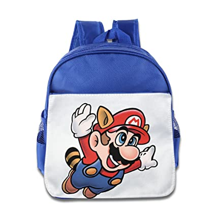 Lovely Baby Super Mario Bros Flying Kids mochila escolar, Azul eléctrico para 1 – 6