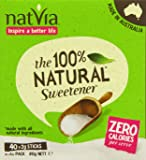 Natvia 100 % Natural Sweetener 40 Sticks (Pack of 4)