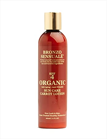 Bronzo Sensuale SPF 4 Sunscreen Deep Tanning Carrot Lotion 8.5 Ounces