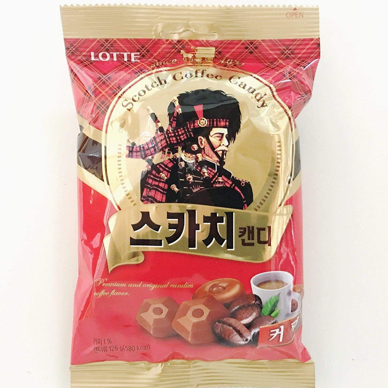 RAUM Food Scotch Trio Flavors Candy Butter Coffee Banana Korean Food Snack 126 g