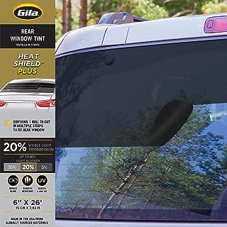 product image for Gila Heat Shield Plus 20% VLT Rear Window Automotive Window Tint DIY Extra Heat Control Glare Control (6in x 26in Strips)