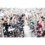 Battife White Confetti Wands 7Pack Tissue Paper Confetti Flick Flutter Sticks for Wedding Celebrations Anniversary Birthday P