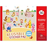 Jar Melo Reusable Sticker Pad; City Park; 5 Scenes and Over 145 Stickers
