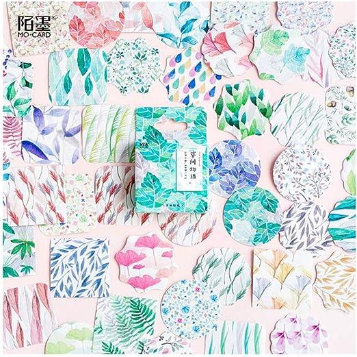 SDRTYHJ Pegatina 45 Unids/Pack Plantas Naturales Pegatinas Decorativas Scrapbooking Stick Label Diario Papelería Álbum Regalos para Niños 2 Bolsas Q: Amazon.es: Hogar
