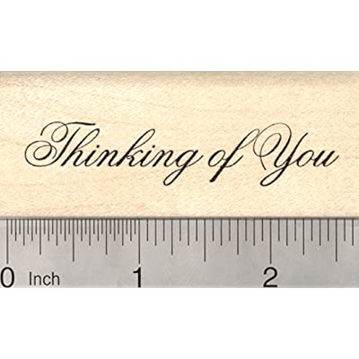 Thinking of You Rubber Stamp: Arts, Crafts & Sewing