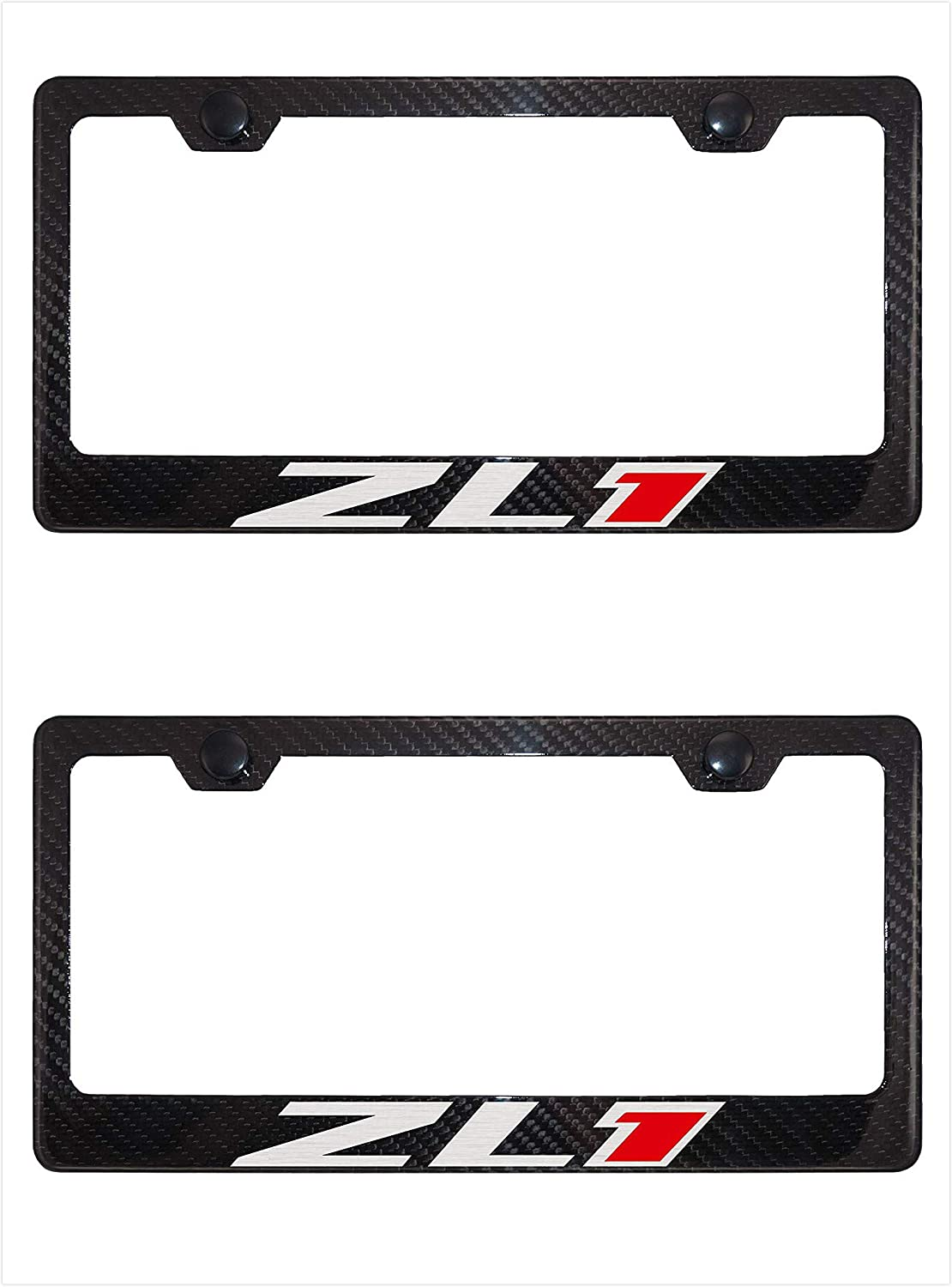 Carbon Fiber-Text GTR License Plate Holder Cover Frame Cap For Nissan 350Z 370Z