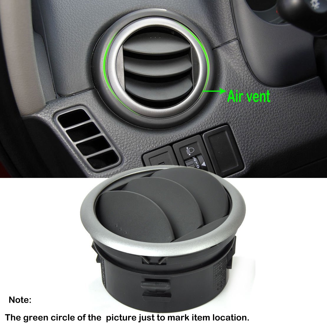 Hanperal Dashboard Air Conditioning Deflector Outlet Side Vent for Suzuki SX4 Swift 05-13
