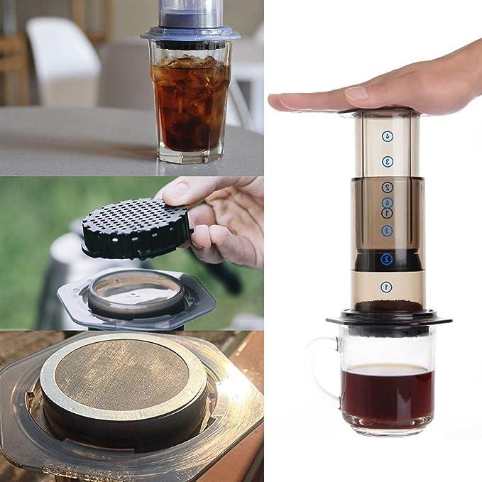 Malla filtros para AeroPress cafetera acero inoxidable ...