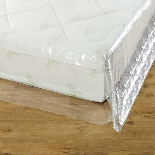 Groundmaster Durable Mattress Cover Protective Plastic Storage Bed