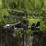 LUCKSTAR Remote Control UAV Aircraft - 2.4GHZ 4.5CH Dual Axis RC Airplane with Double Gyro & Headlamp - Cool Boy's Toy / Kids' Gift (Black)
