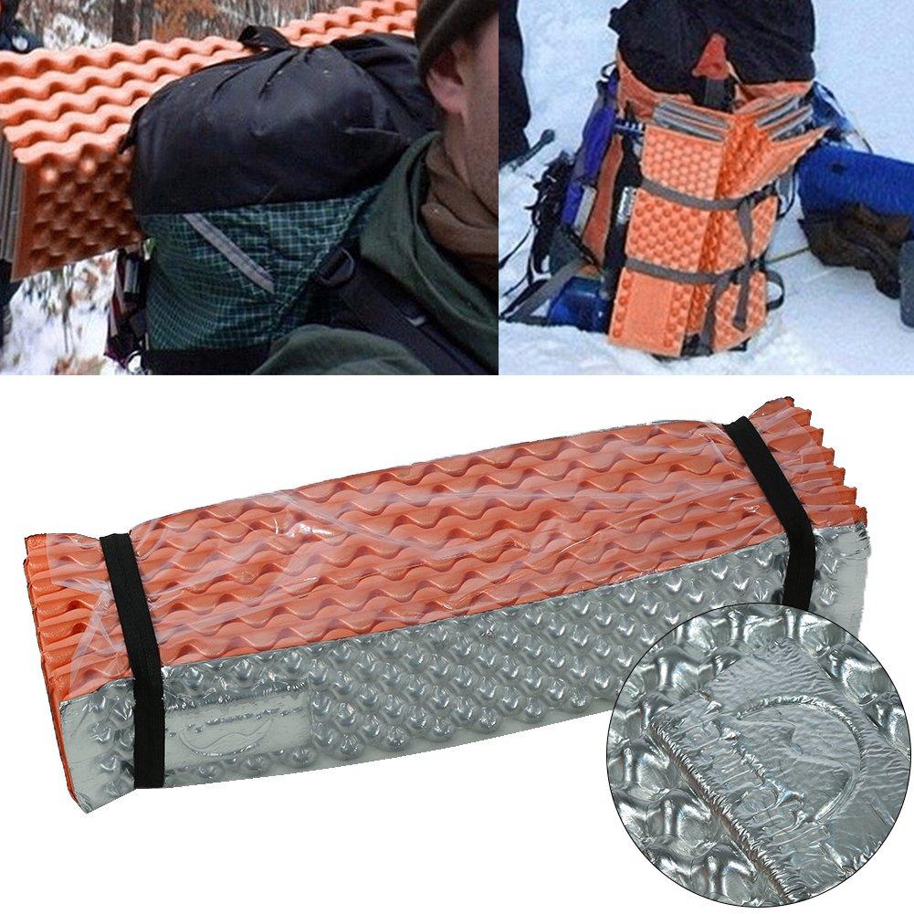 Alomejor ext/érieur pliable lhumidit/é Proof Camp Tapis de couverture Pad Matelas de couchage pour camping