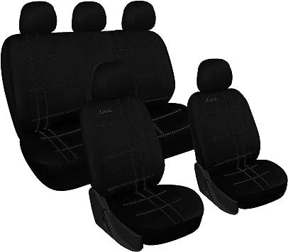 Sitzbezüge schwarz hinten KOS BMW 5ER