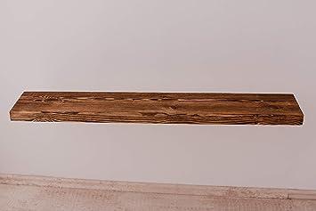 100x18 Larisa Rustikal Wandregal Dunkle Eiche mit Wachs Bedeckt Verschiedene L/ängen