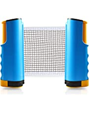 Table Tennis Net Retractable Ping Pong Net Portable Accessories Adjustable Post Set Bracket Clamps - Joy.J