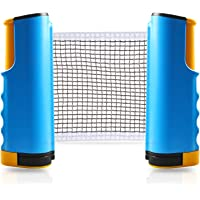 Joy.J Red de Tenis de Mesa retráctil Ping Pong Net portátil Accesorios Ajustable Post Set Soporte Abrazadera – Joy