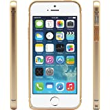 iProtect Protection Frame Apple iPhone 5 / 5s Metall Bumper Schutzhülle gold