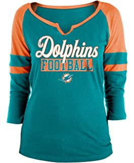 New Era Miami Dolphins Ladies Slub Jersey 3 4 Sleeve Raglan Split Scoop T- 351e938e9