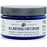 All Natural Antifungal Foot Cream. Moisturizing Organic Relief for Dry Cracked Heels, Callused Feet, Athletes Foot. Best Therapeutic Grade Essential Oils: Peppermint, Lavender, Eucalyptus, Tea Tree.