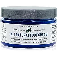 All Natural Antifungal Foot Cream. Moisturizing Organic Relief for Dry Cracked Heels, Callused Feet, Athletes Foot. Best Therapeutic Grade Essential Oils: Peppermint, Lavender, Eucalyptus, Tea Tree.