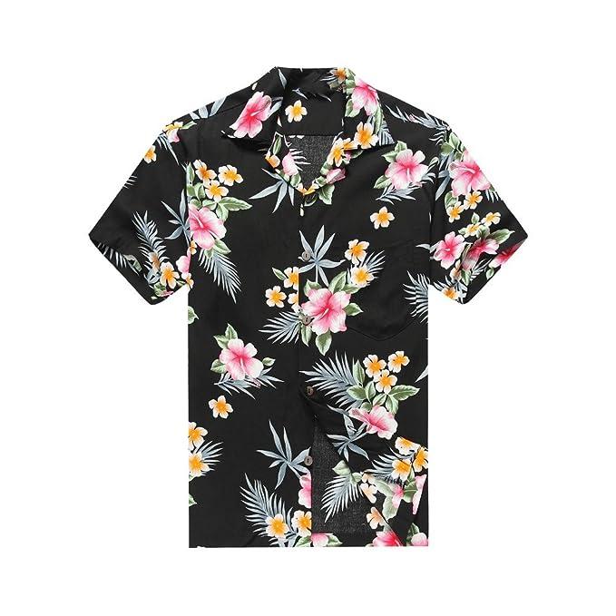 Amazon.com: Hawaii Hangover Mens Hawaiian Shirt Aloha Shirt Hibiscus Blue: Clothing