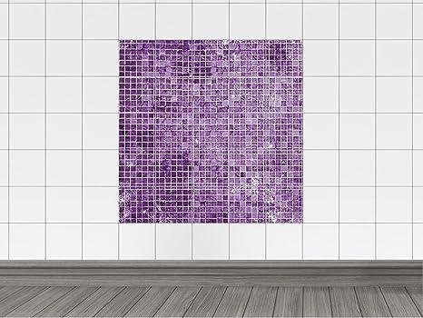 Adesivo stampa su piastrelle per cucina motivo piastrelle a mosaico