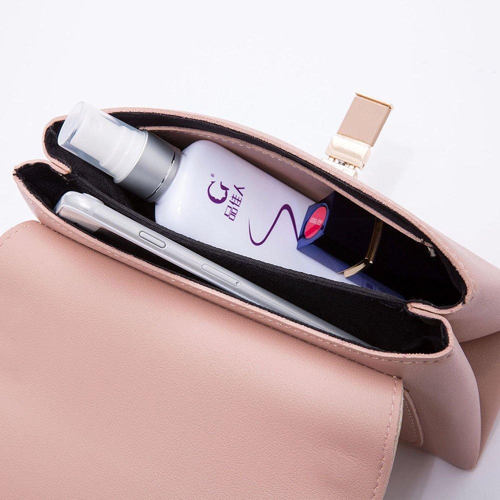 Meetyou enkel modetrend enkel axel diagonalt paket, vertikal fyrkantig väska Axelremsväskor Beanpasteapricot Beanpasteapricot
