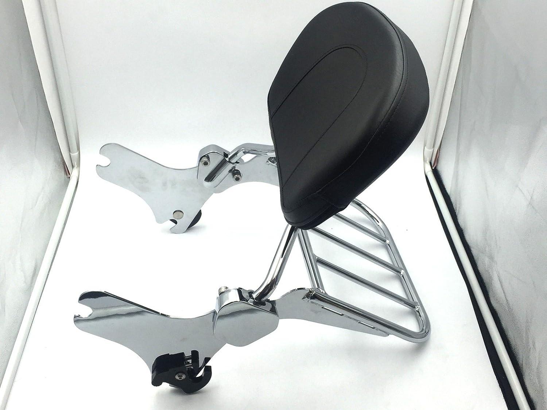 SMT Motorcycle Chromed Backrest Detachable Sissy Bar Luggage Rack Set For Harley Davidson 1997-2008 Road King FLHT FLHX and FLTR 2006-2008 FLHTC