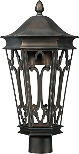 Capital Lighting 9445OB One Light Outdoor Post Lantern Dark Sky