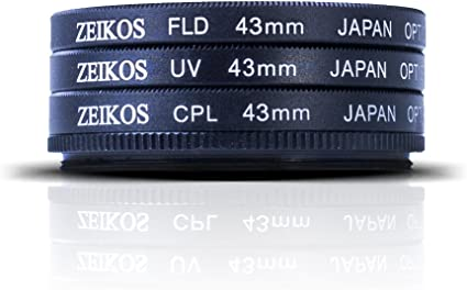 Zeikos 43mm Multi Coated 3 Piece Glass Filter Set For Kamera
