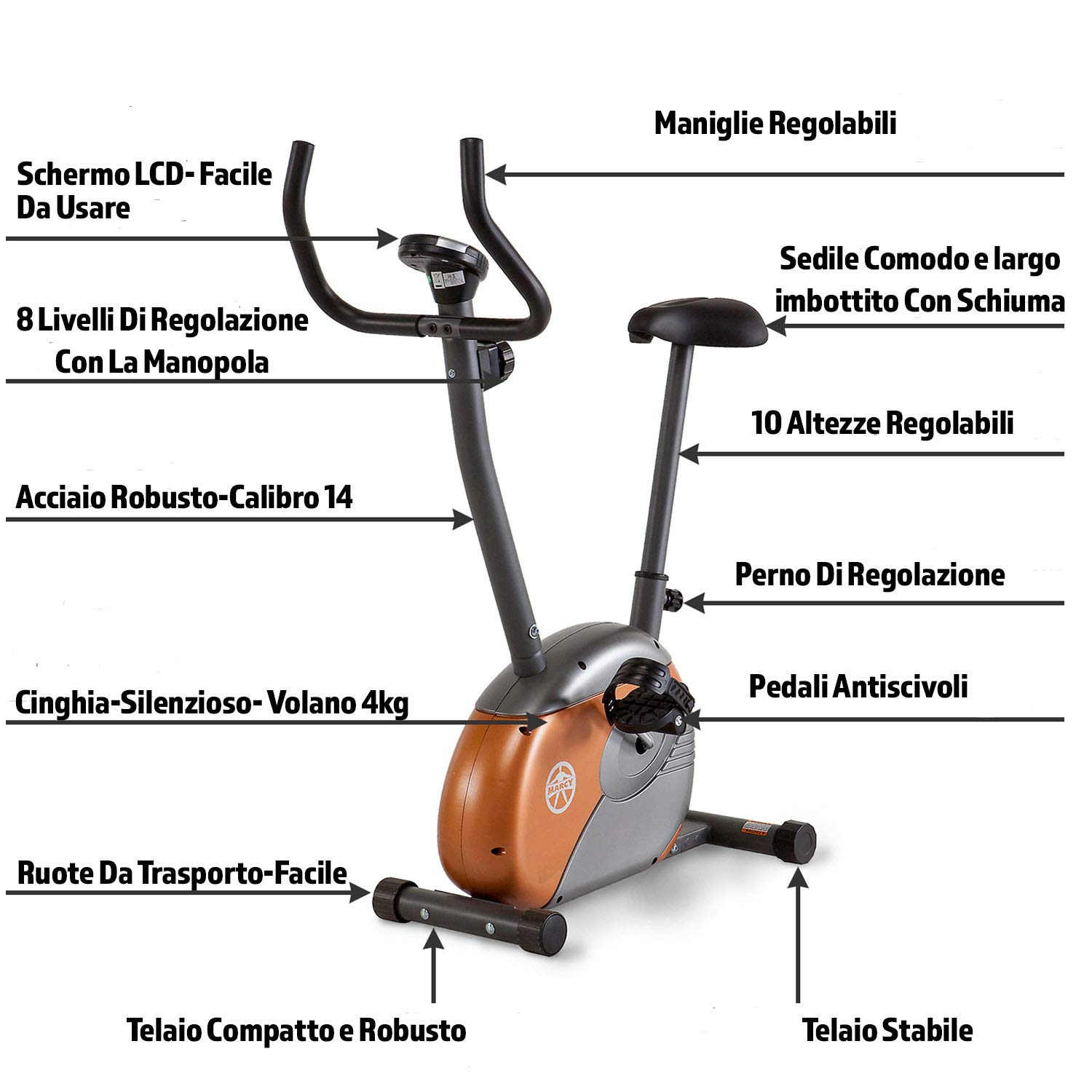 Marcy Upright Exercise Bike with Resistance ME-708 by Marcy (Image #3)