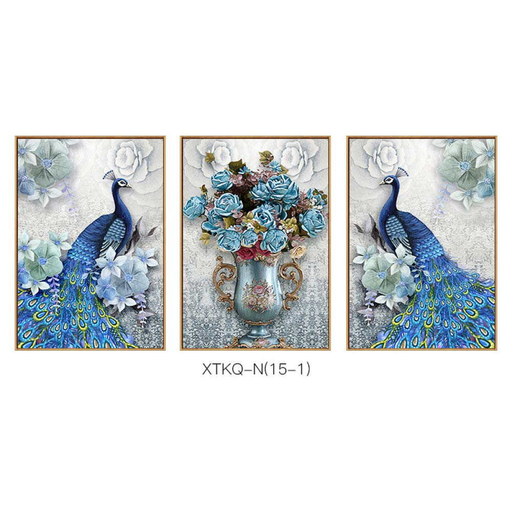 SED Peacock Series Retro Nostalgic Decorative Painting, Lucky Style Hanging Painting, Living Room Porch Hotel Office Wall Decoration,C,3040cm by SED